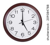 five hours on a round clock face | Shutterstock . vector #209384788