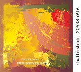 autumn background. vector... | Shutterstock .eps vector #209385916