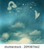summer sky poster   doodle...   Shutterstock .eps vector #209387662