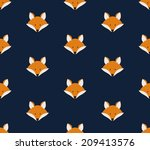 seamless pattern with cute... | Shutterstock .eps vector #209413576