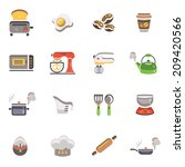 cooking and kitchen icons   Shutterstock .eps vector #209420566