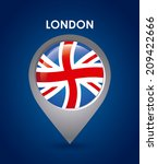 london design over blue...   Shutterstock .eps vector #209422666