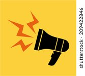 megaphone design over yellow ... | Shutterstock .eps vector #209422846