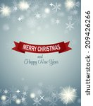 christmas snowflakes background ... | Shutterstock .eps vector #209426266