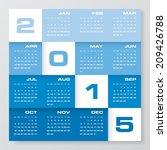 simple editable vector calendar ... | Shutterstock .eps vector #209426788