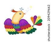 bird sings tales of tender song. | Shutterstock .eps vector #209429662