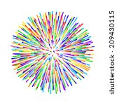 rainbow fireworks on white... | Shutterstock .eps vector #209430115