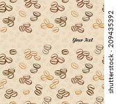 coffee bean seamless background | Shutterstock .eps vector #209435392
