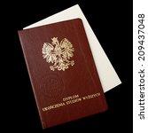 polish university diploma | Shutterstock . vector #209437048