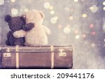 two teddy bears holding in one'... | Shutterstock . vector #209441176