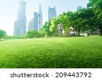 park in  lujiazui financial... | Shutterstock . vector #209443792