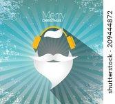 merry christmas hipster poster... | Shutterstock .eps vector #209444872