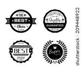 vector commercial stamps set in ... | Shutterstock .eps vector #209448922
