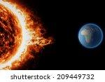 Sun  Solar Storm  Earth  Space...