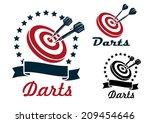Darts Sporting Symbols  Emblem...