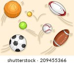 illustration featuring balls... | Shutterstock .eps vector #209455366