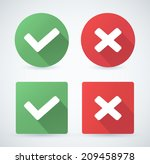 vector check mark icons. | Shutterstock .eps vector #209458978