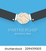 vector handshake illustration.... | Shutterstock .eps vector #209459005