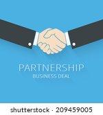 vector handshake illustration.... | Shutterstock .eps vector #209459005
