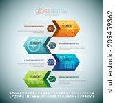 vector illustration of gloss... | Shutterstock .eps vector #209459362