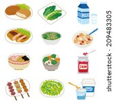 various food menus | Shutterstock .eps vector #209483305