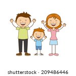 family design over white... | Shutterstock .eps vector #209486446