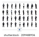 silhouettes of business people... | Shutterstock .eps vector #209488936