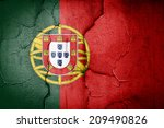 flag of portugal painted on... | Shutterstock . vector #209490826