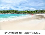 turquoise waves on the island... | Shutterstock . vector #209495212