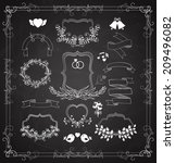 wedding graphic set with... | Shutterstock . vector #209496082