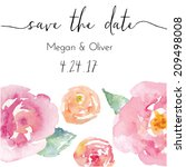 save the date calligraphy text... | Shutterstock .eps vector #209498008