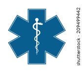 medical symbol of the emergency ... | Shutterstock .eps vector #209499442