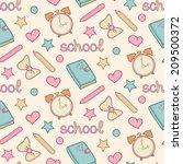vector cute school seamless... | Shutterstock .eps vector #209500372