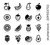 flat fruits icons set. isolated....   Shutterstock .eps vector #209503702