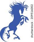 elegant silhouette of horse for ... | Shutterstock .eps vector #209516002