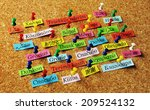 thank you word  on colorful... | Shutterstock . vector #209524132