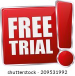 modern red free trial sign