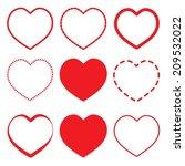heart icon vector. | Shutterstock .eps vector #209532022