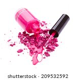 crushed eye shadow with nail... | Shutterstock . vector #209532592