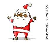 cartoon santa claus | Shutterstock .eps vector #209534722