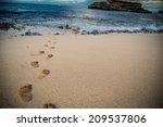 Footsteps In The Crisp Sand