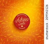vector badge design   autumn... | Shutterstock .eps vector #209542126