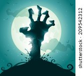 halloween background with...   Shutterstock .eps vector #209542312