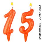 birthday candles number... | Shutterstock . vector #209546065