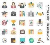 set of modern flat vector icons ... | Shutterstock .eps vector #209550172