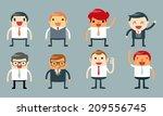 set of businessman characters... | Shutterstock .eps vector #209556745