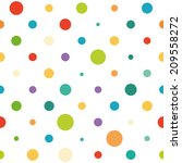 seamless spotted pattern | Shutterstock . vector #209558272