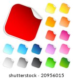 set of square stickers | Shutterstock .eps vector #20956015