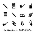 silhouette smoking and...   Shutterstock .eps vector #209566006