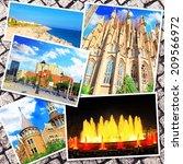 Collage Of Beautiful Barcelona...
